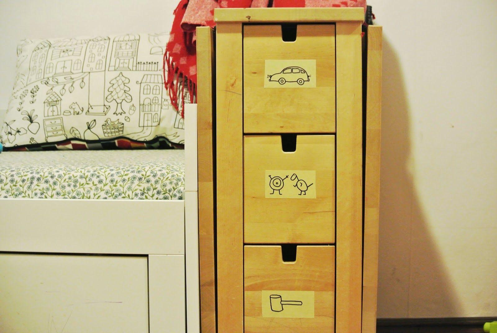 toy storage labels DIY nursery playroom organisation