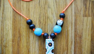 Bright DIY Kid Necklace to Whip Up Your Little One's Look