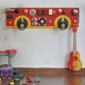 手工制作木制玩具BUSY板儿童感觉玩具精细运动自然学习