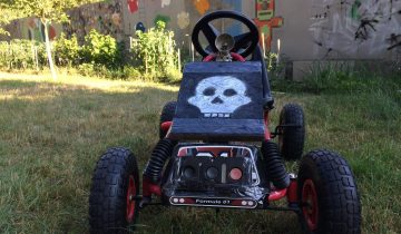 Badass Skull Stencil Decor For Custom Pedal Car