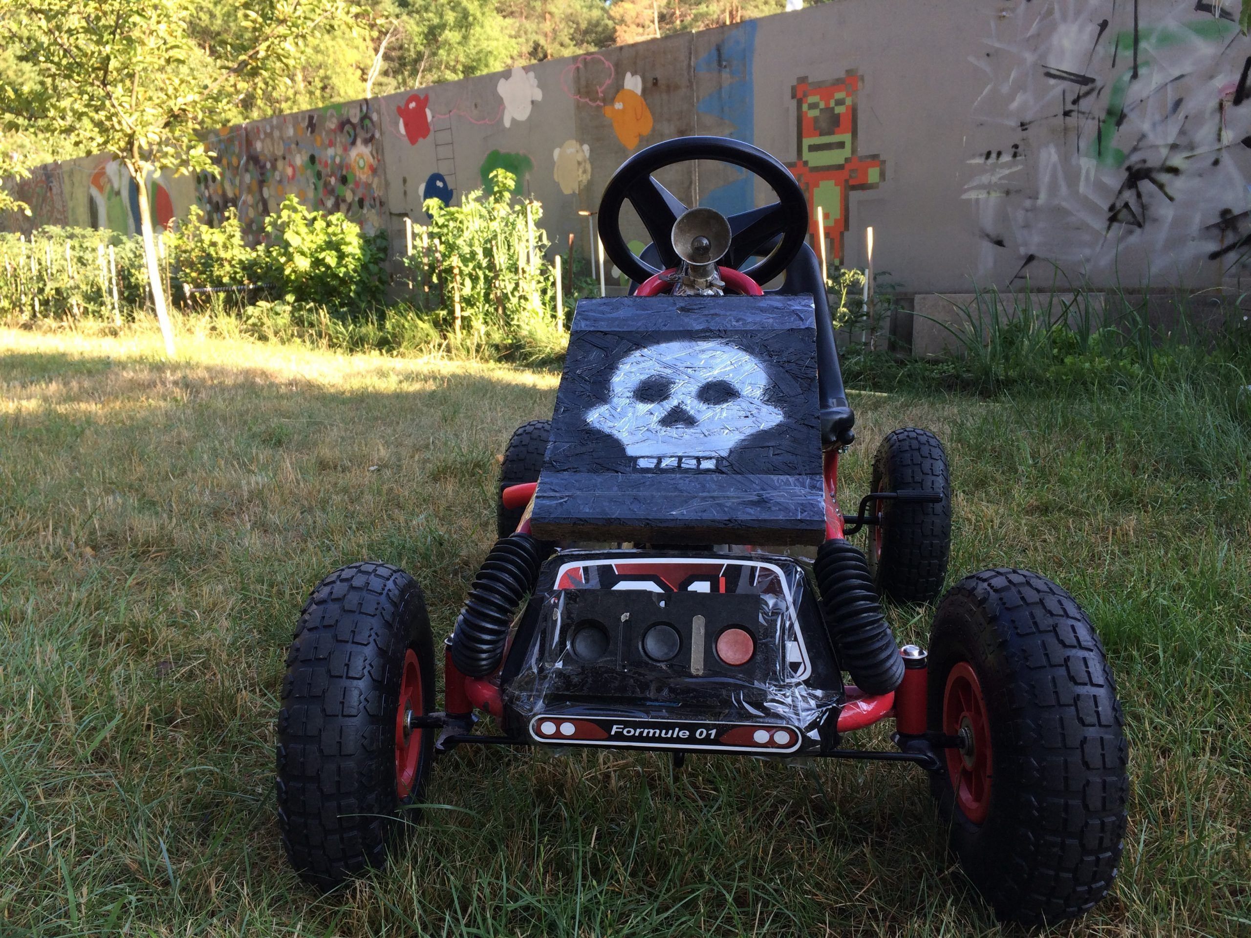 skull stencil pedal car cuctom toys DIY