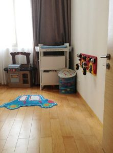 how to place a busyboard safely in the nursery