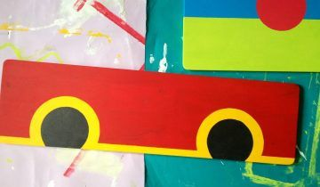 How to Make a Busy Board: How to Paint DIY Busy Board