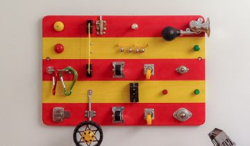 A Firetruck Busy Board for Brother and Sister