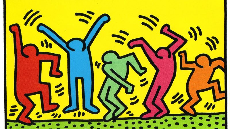 Keith Haring Dance art for childrens room
