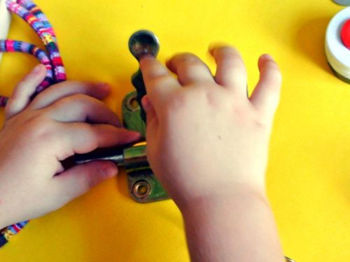 using busy board for autism and some disabilities