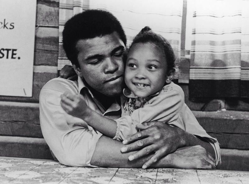 Mohammad Ali with his daughter - best quotes about children