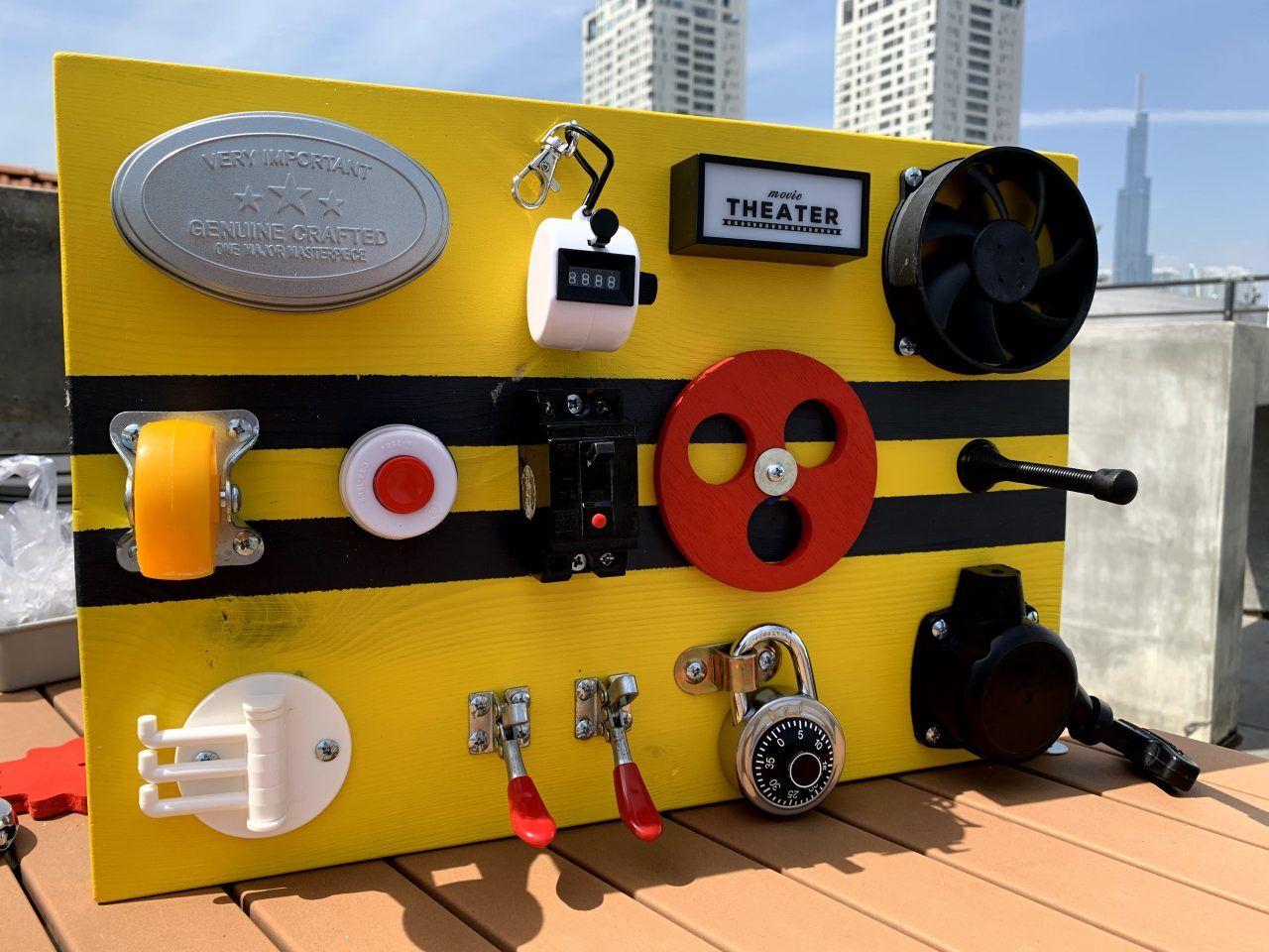 fidget board busy board for baby custom made