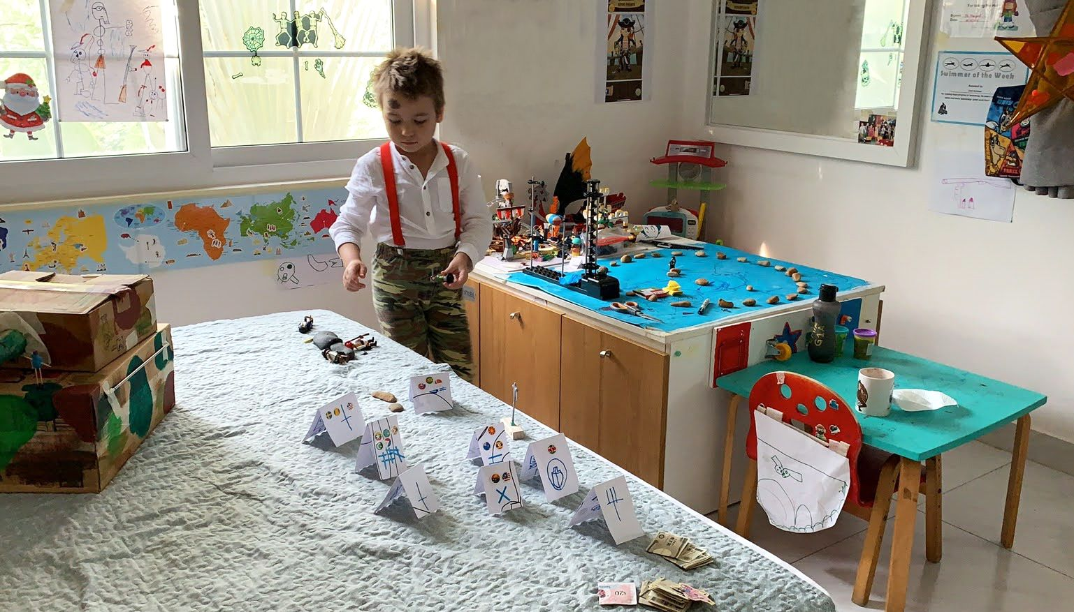 parenting 2020 homemade toys Emir Karimov playroom homeschooling toys DIY