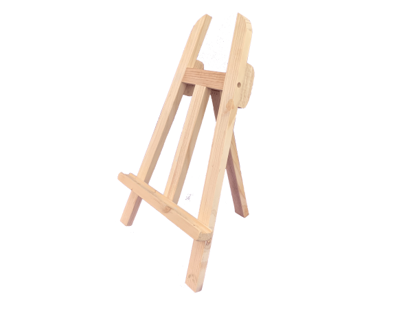 stand for busy board chunky easel natural wood