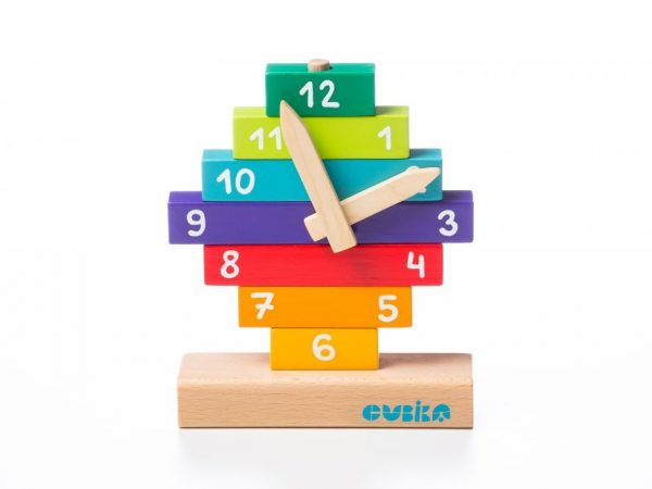 wooden clock toy for babies and toddlers early education