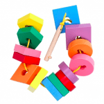 lacing puzzle toy key and keyholes for babies