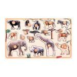 peg puzzle with the realistic african animals convenient handles great for babies and toddlers