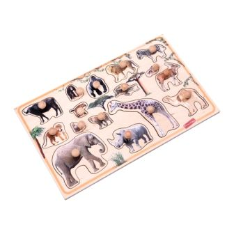 peg puzzle african animals educational toy for the babies montessori realistic animals puzzle