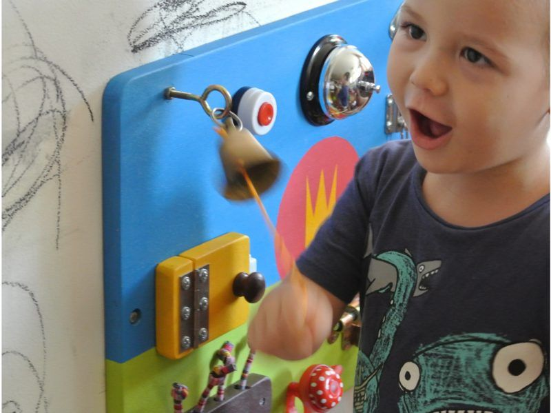 learn through play with busy board