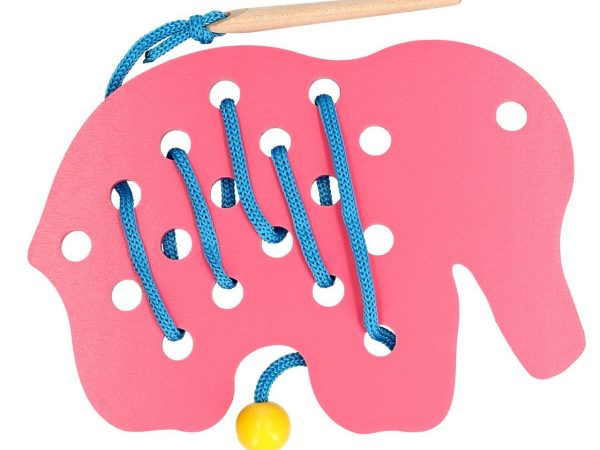 wooden elephant lacing toyfor babies and toddlers development early education toys