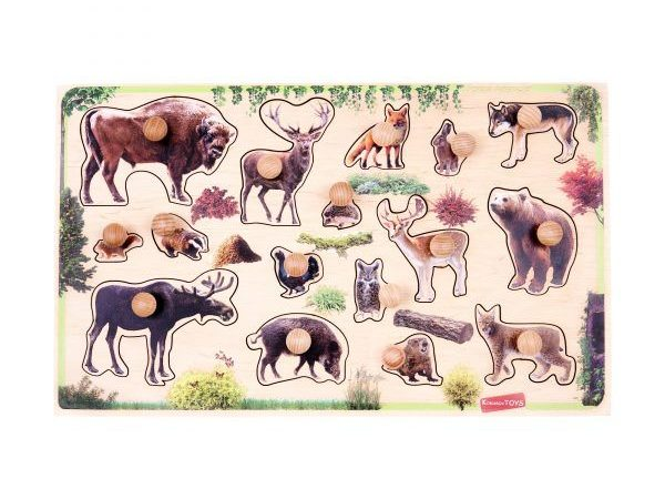 forest animals peg puzzle educational toy for kids