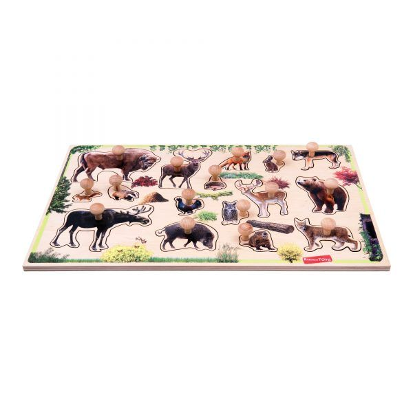 forest animals peg puzzle montessori aligned educational toy for children and kindergarten