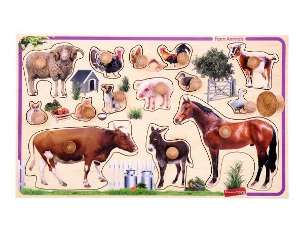 farm animals peg puzzle for children educational montessori toy
