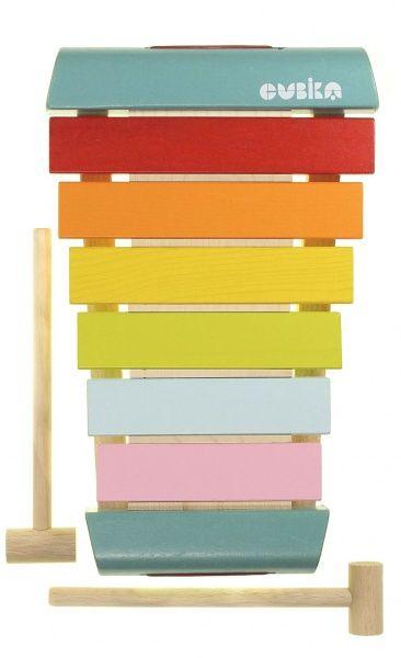 wooden xylophone rainbow toy gender neutral nursery